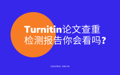 Turnitin论文查重检测报告你会看吗?