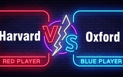 Harvard和Oxford参考格式的区别(内有范例).