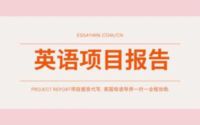 英语项目报告代写: 让英国EssayMin为你的学业保驾护航!